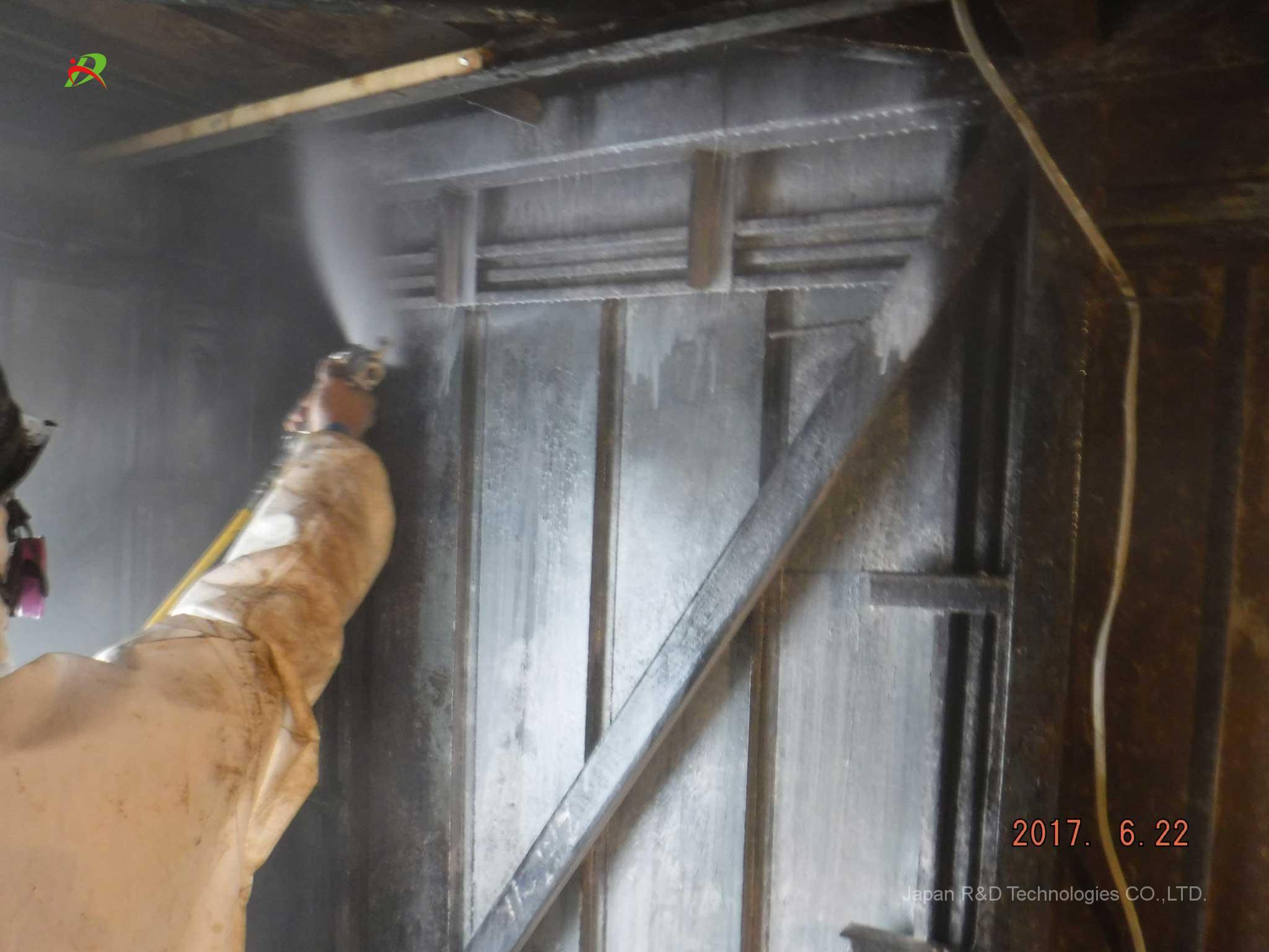 東京都 中央区 銀座 石綿吹き付け材の除去工事