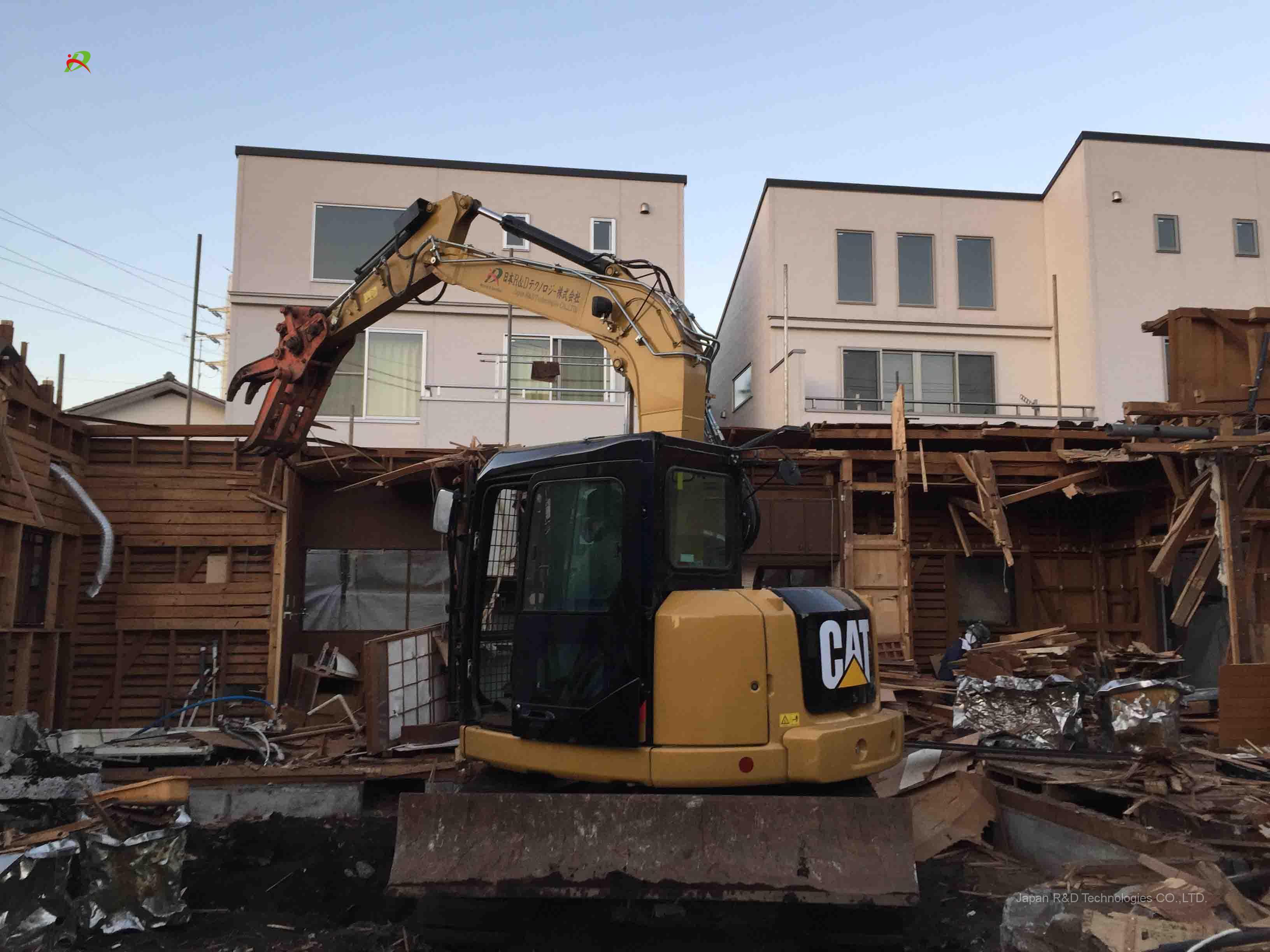 杉並区 成田東 木造モルタル2階建 解体工事