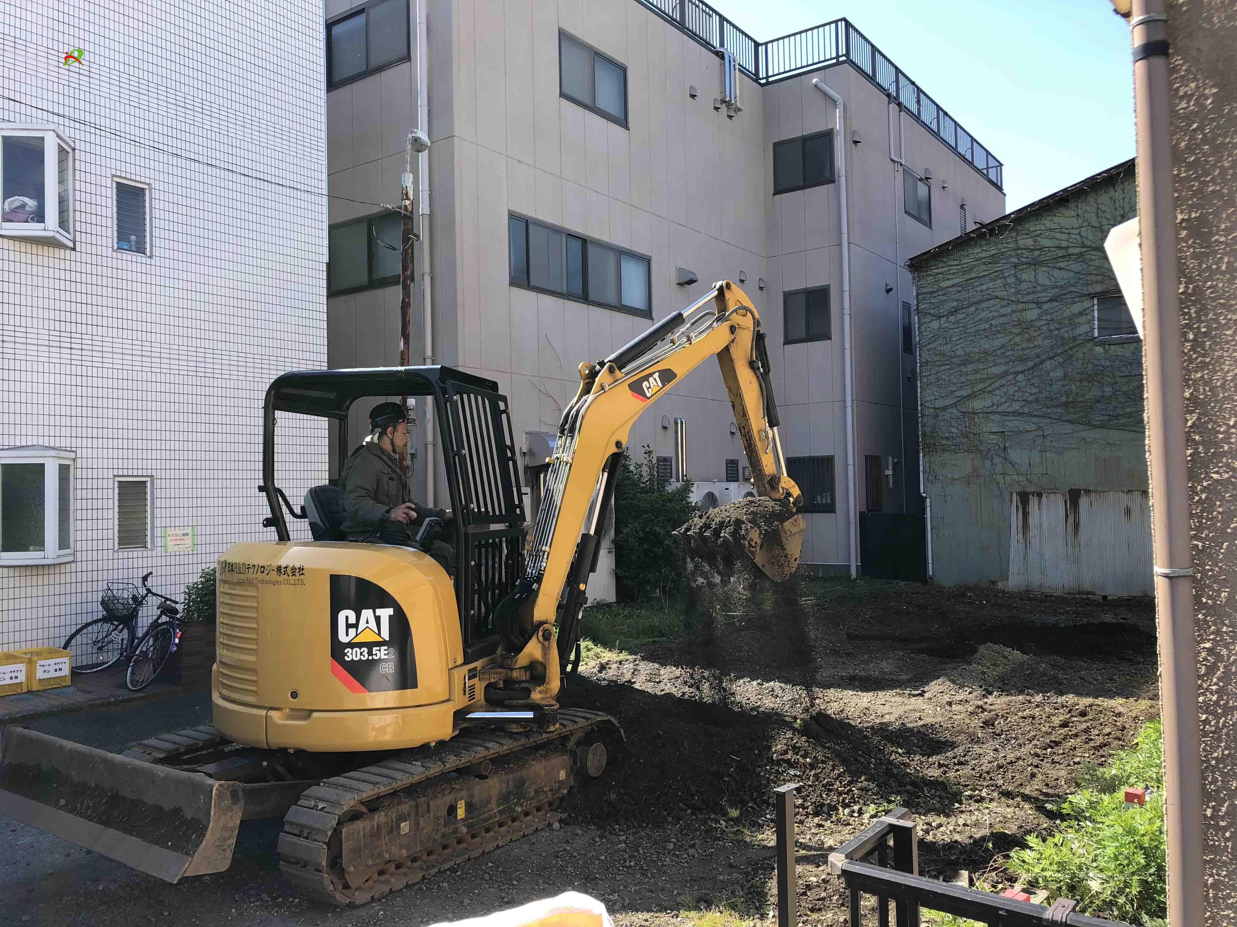 立川市 高松町 駐車場撤去